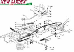 Exploded View Command Brake Gearbox 33 1/8in Pdc140 Mower Castelgarden2002-13