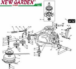 Transmission Exploded View 40 3/16in Pt190hd Mower Lawn Mower Castelgarden Parts