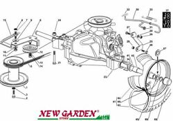 Transmission Exploded View 28 5/16in F125h Mower Lawn Mower Castelgarden 2002-13