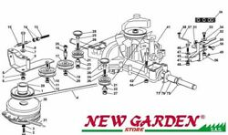 Transmission Exploded View 40 3/16in Tn220he Mower Lawn Castelgarden Ggp Parts