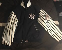 Vintage New York Yankees 1996 World Series Authentic Mlb Jacket By Jh Designs