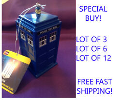 Doctor Who Plastic Tardis Ornament - Free Shipping Item Dw1131 - Lot 3, 6 Or 12