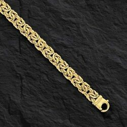 14k Yellow Gold Super Byzantine Link Fashion Chain Necklace 20 9mm 25 Grams