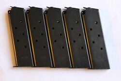 1911 Mag Magazine Mags 5 Blue Steel 8 Shot Usa New .45 Cal.