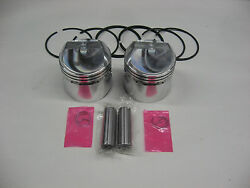 Triumph 500 69 And Later .040 Pistons And Rings Jcc Emgo W/ American Cycle Pro Rings