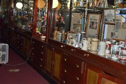 120 year old mahoganyglass jewelry store wall cases: 8 units 8' x 8'