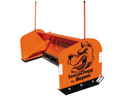 2603108 Scoop Dogg 8.0and039 Snow Pusher With Rubber Cutting Edge Skid Steer Pusher