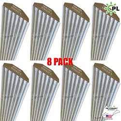 Qty8 6 Bulb / Lamp T8 Led High Bay Warehouse Commercial Light Fixture Clear