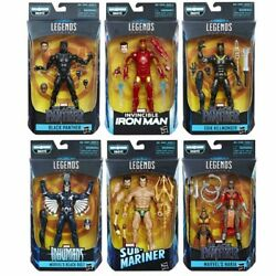 Marvel Legends Black Panther 2018 Wave 1 Set of 6 with Okoye BAF - IN STOCK MIB