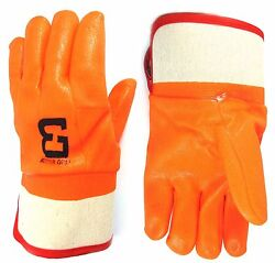 Better Grip Orange Pvc Glove Safety Cuff For Garbage Pick Up And Oil-bg105org