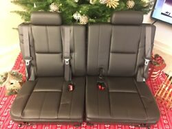 2011 Chevy Tahoe 3rd Raw Seats. Black Color. Leather.