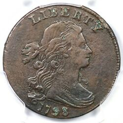 1798 S-176 R4 Pcgs Vf Details Draped Bust Large Cent Coin 1c