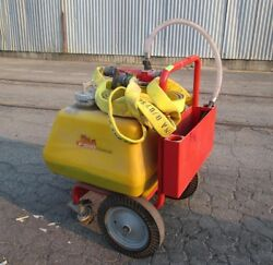Hct F-500 Portable Fire Suppression Cart W/ Fire Hose And Nozzle, Used