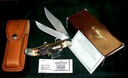 Schrade 227uh Knife And Sheath Uncle Henry 1980's W/original Packaging, Papers