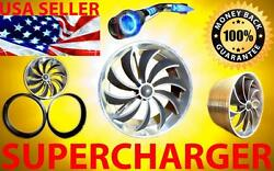 Chevy Chevrolet Air Intake Ss Supercharger Turbo Performance Fan Turbonator Kit