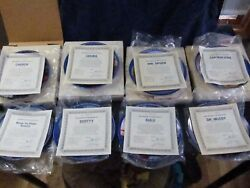 Set Of 8 Star Trek Collectors Plates 1983 Full Set W/boxes And Certs