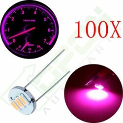 100x 3SMD LED Back Light Purple 4.7mm For GM Cluster Speedometer Climate Control