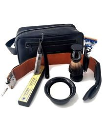 5 Edge Razor With Strop, Badger Brush, Stand, Soap And Bowl Mens Shaving Gift Set