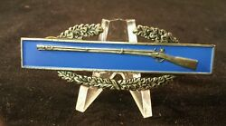 Ww2 Army Combat Infantry Badge Sterling Clutch Back