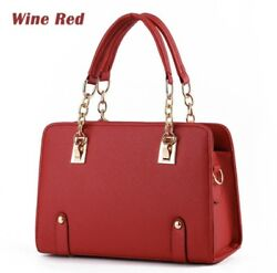 Women Chain Oblique Cross Handbags Shoulder Bag PU Leather Messenger Hobo Bags $19.99
