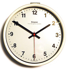 Grayson White 9quot; School Hospital Office Battery Clock High Quality UK Made G25