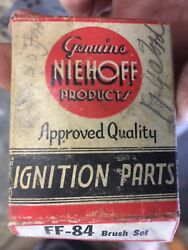 1-nos 1-used Niehoff Generator Brush Set Ff-84 Ff84 New F 14 Also A Lightly Used