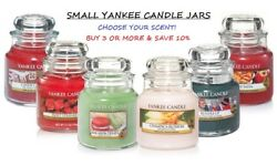 ☆☆small Yankee Candle Jars 3.7 Oz☆☆you Choose The Scent☆☆free Fast Shipping