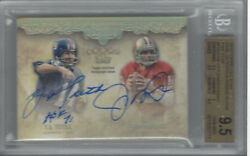 Montana And Tittle 2012 Topps Five Star Dual Veteran And Rookie Au 1/1 Bgs 9.5/au 10