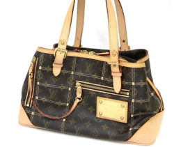 LOUIS VUITTON Monogram Riveting Bag Women's Tote Bag M40140  Auth FS JAPAN