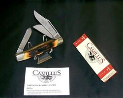 Camillus 88 Knife Side Locking Usa Sword Brand Stockman Indian Stag W/packaging