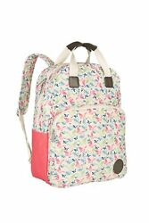 Lassig Vintage Style Diaper Backpack includes Matching Insulated Bottle Holde...