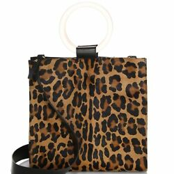 NEW EDIE PARKER WOMENS CALF HAIR AND LEATHER TOTE BAG