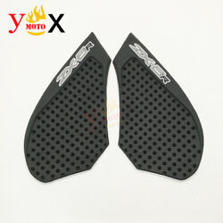 Gas Tank Pad Traction Side Fuel Grips Decals Protector For Kawasaki Zx6r 2007-08