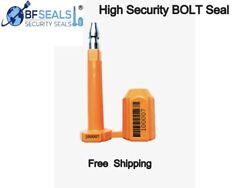 Security Bolt Seal For Cargo Containers Orange Color Numbered1000 Pcs.bfseals