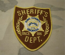 Us The Walking Dead King County Sheriff Dept. Patches Cosplay Costume Patch 2pc