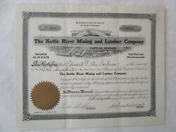 The Kettle River Mining And Lumber Company A Delaware Corporation
