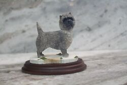Cairn Terrier Statue made & hand painted by Best of Breed in England; no flaws