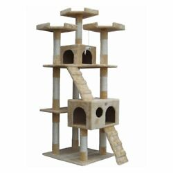 Go Pet Club Cat Tree - Beige - 72 in.