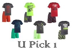 Under Armour Tee Shorts Set 2 pc Boys Outfit Athletic Sports Short Pants T Shirt