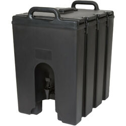 New Cambro 11.75 Gallon Black Insulated Hot Cold Beverage Cooler Dispenser Large