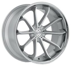 20andrdquo Blaque Diamond Bd-23 Silver Machined Wheels For Mercedes W221 S400 S550 S63