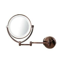 Makeup Vanity Mirrors 10x Magnify 7.5 Inch Swivel Dual Sided Antique Brass