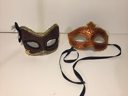 2 DECORITIVE MASQUERADE MASKS