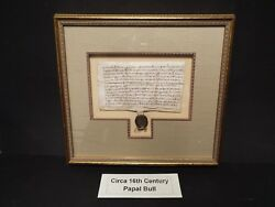 1587 Papal Bull From Rome In Latin On Vellum.