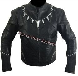Menand039s Avengers Motorcycle Panther Civil War Real Leather Jacket Armor Protection