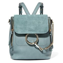 NEW CHLOÉ WOMENS FAYE SMALL LEATHER AND SUEDE BACKPACK