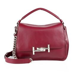 NEW TOD'S WOMENS DOUBLE T LEATHER MESSENGER BAG