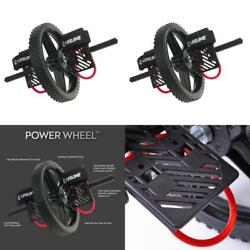 Lifeline Power Wheel with 2 Handles and Stirrups for Abdominal Exercises and Exe