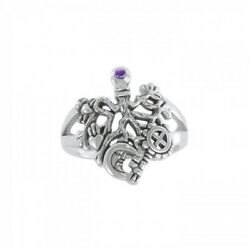 Cimaruta Witch Sterling Silver Ring Choice Of Gemstone By Peter Stone