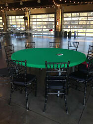 Felt Poker Table Cover That Fits 72 Round - With A 1-2 Edge Dwst / Bl Fs